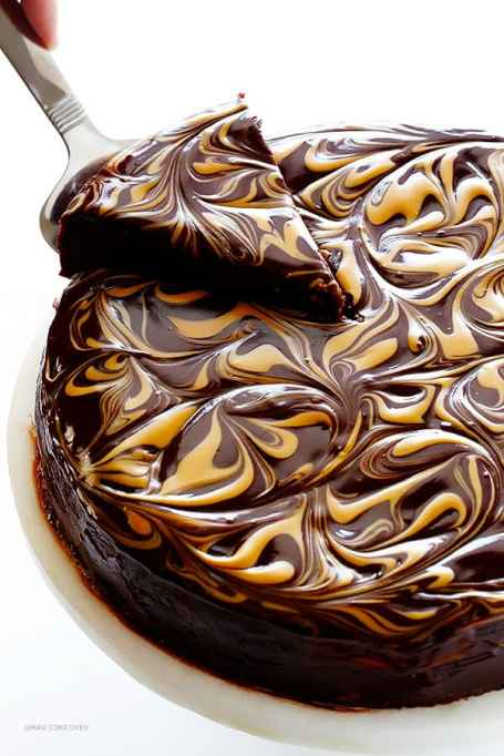 Flourless Peanut Butter-Chocolate Cake