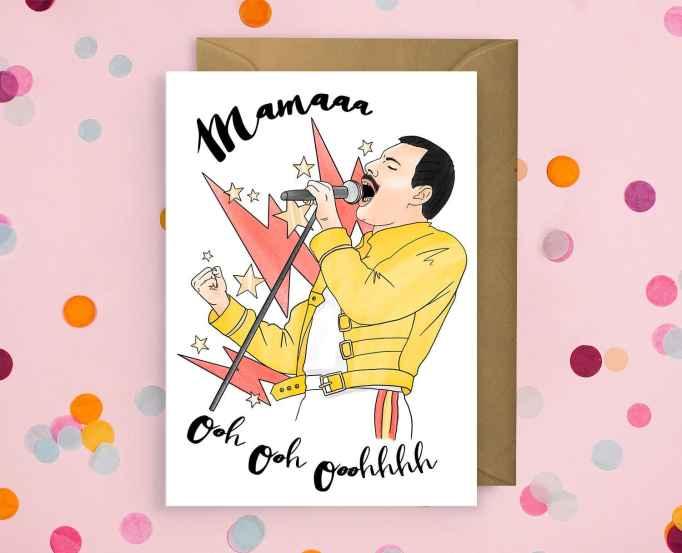 "Freddie Mercury ""Mamaaa"" card"