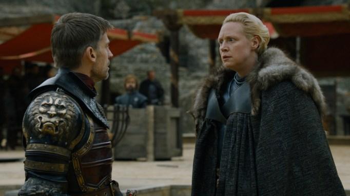 'GoT' Jaime and Brienne.