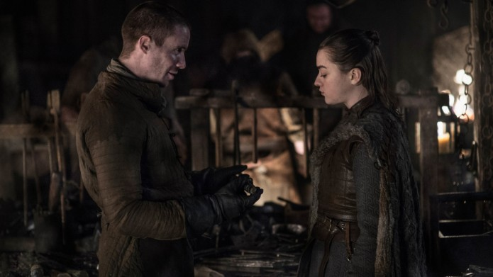 Arya Gendry at Winterfell Game of