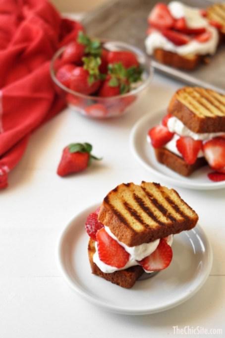 Grilled Pound Cake Strawberry Shortcake.