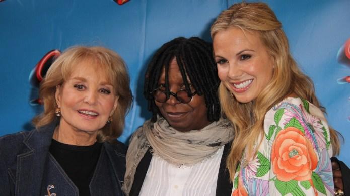Elisabeth Hasselbeck and Barbara Walters at