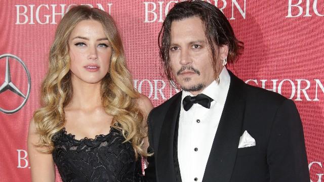 Amber Heard and Johnny Depp at 2016 Palm Springs International Film Festival Gala