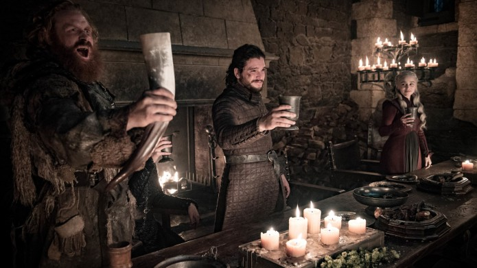 Tormund, Jon Snow, and Daenerys on