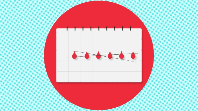 An illustration of a period tracking