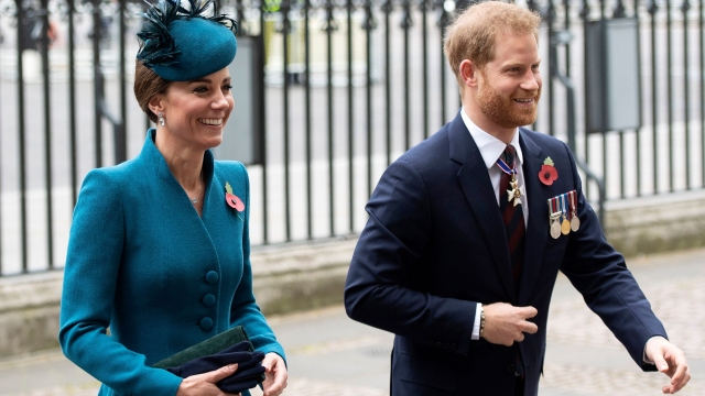 Harry & Kate Do Damage Control in Extra Smiley Appearance Amid Feud Rumors