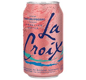 La Croix 'Cran-Raspberry' flavor.
