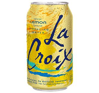La Croix 'Lemon' flavor.