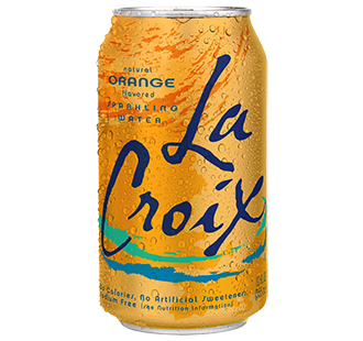 La Croix 'Orange' flavor.