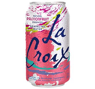 La Croix 'Passionfruit' flavor.