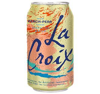 La Croix 'Peach Pear' flavor.