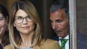 Lori Loughlin leaving court.