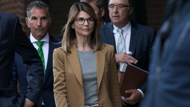 Lori Loughlin facing charges in a nationwide college admissions cheating scheme, Boston, USA
