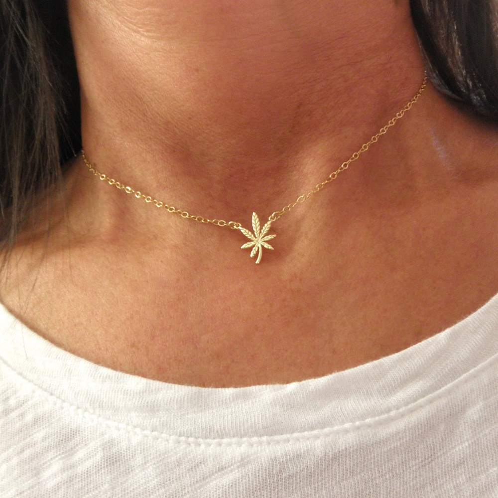 Gifts for Pot-Smoking Moms: Marijuana Leaf Necklace