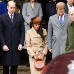 meghan markle kate middleton prince harry prince william at christmas day mass 2017