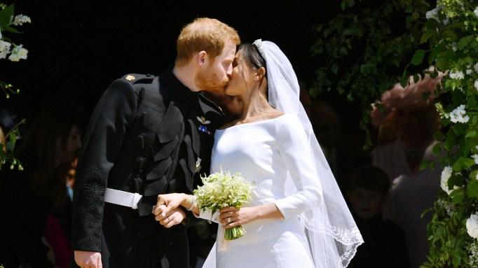 prince harry meghan markle wedding day kiss
