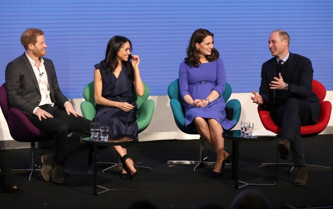 meghan markle, kate middleton, prince william, and prince harry at first double engagement