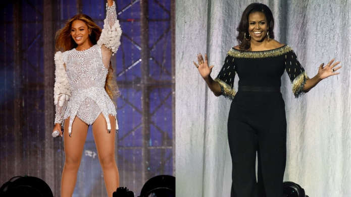 michelle obama beyonce side-by-side