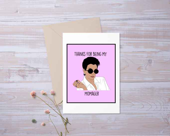 """Kris Jenner """"Momager"""" Mother's Day card"""