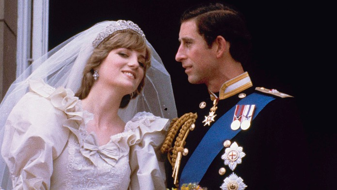 DIANA Prince Charles and his bride