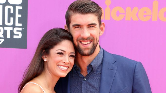 Nicole Johnson and Michael Phelps at 2017 Kids Choice Awards