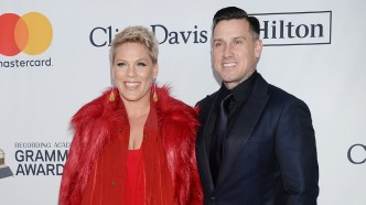 Pink and Carey Hart at Pre-Grammy