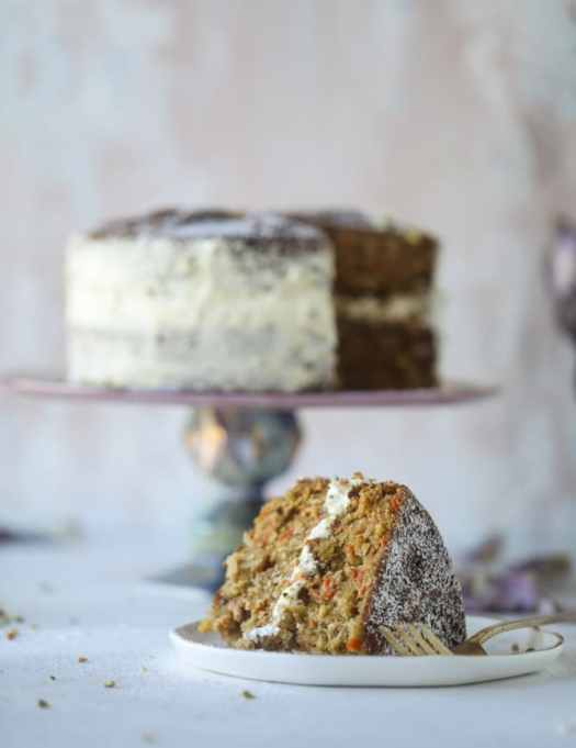 Pistachio Carrot Cake With Cream Cheese Frosting