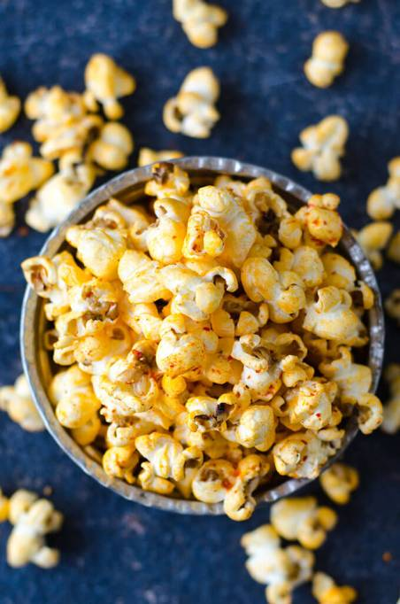 Give Recipe's salty spicy popcorn.