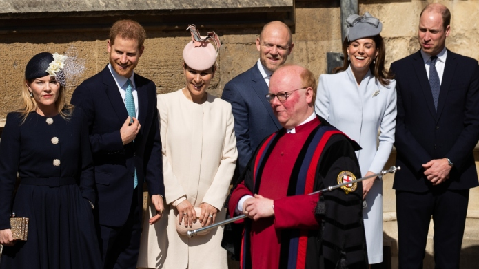 The royal family at Easter service.