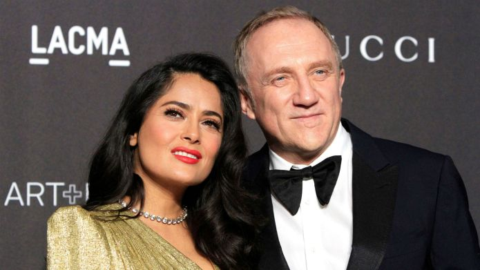 Photo of Salma Hayek and Francois-Henri