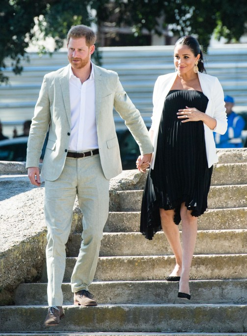 Prince Harry and Meghan Duchess of Sussex visit the Andalusian Gardens in Morocco
