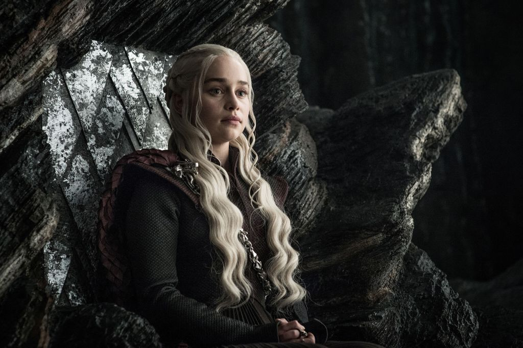 "Mandatory Credit: Photo by Hbo/Kobal/REX/Shutterstock (9036271ad) Emilia Clarke ""Game Of Thrones"" (Season 7) TV Series - 2017"