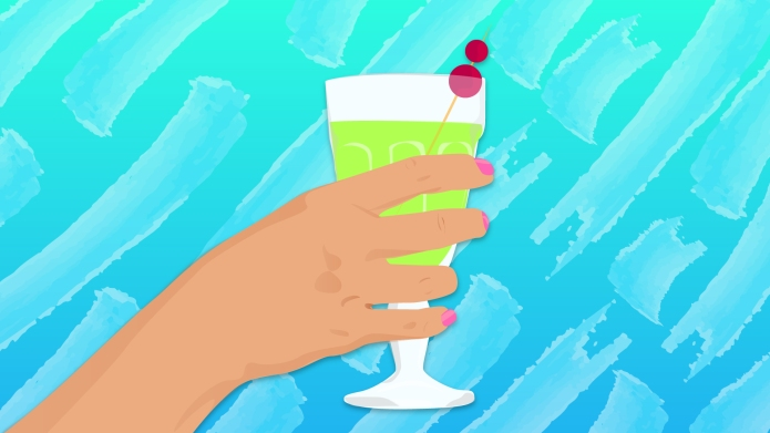 An illustration of a cocktail