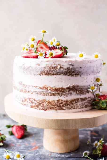 Coconut Carrot Cake With Strawberry Mascarpone Buttercream