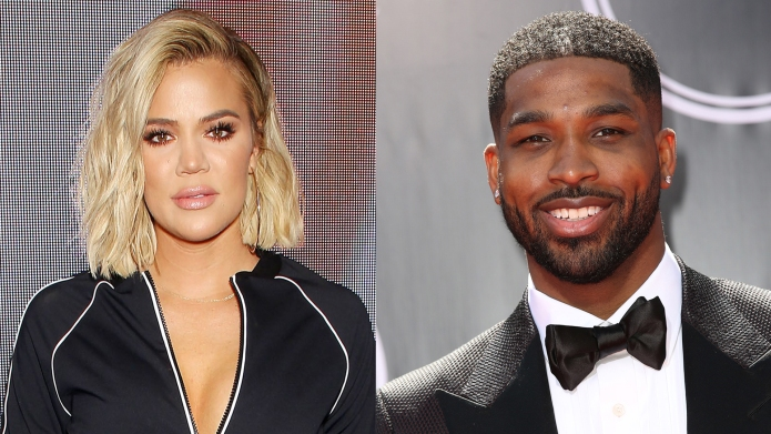 khloe kardashian and tristan thompson side-by-side