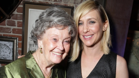 Lorraine Warren and Vera Farmiga.