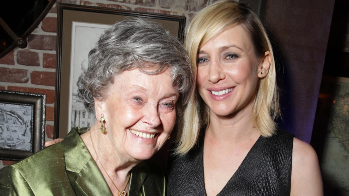 Lorraine Warren and Vera Farmiga.