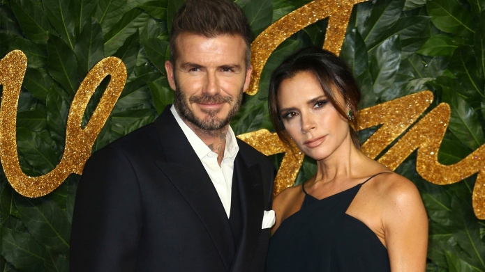 victoria beckham and david beckham wearing