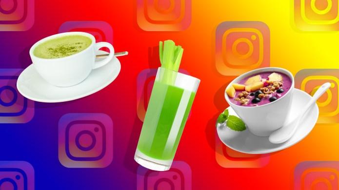A cup of matcha green tea,