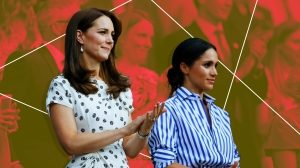 treated photo of meghan markle and kate middleton