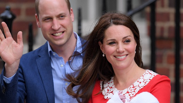 Catherine Duchess of Cambridge gives birth to her third child, Lindo Wing