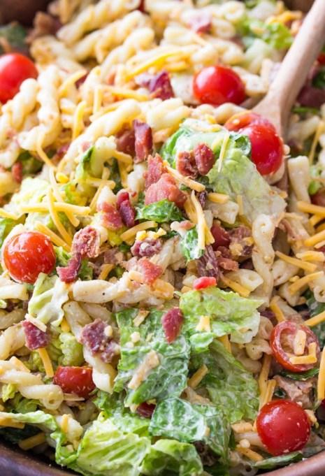 15-minute BLT pasta salad.