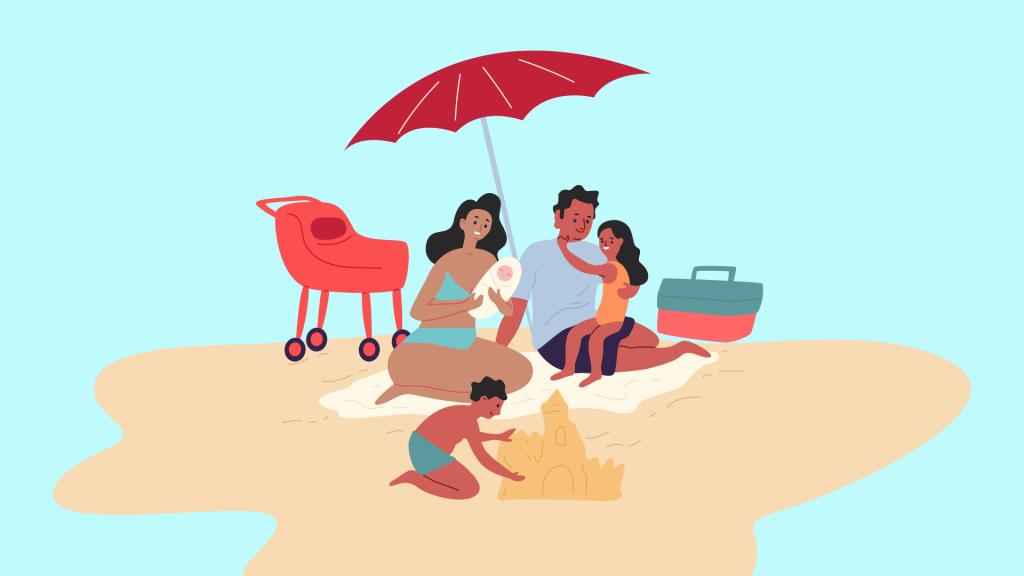 kids family summertime