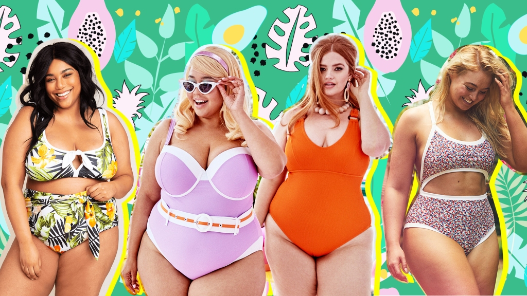 Four women in swimsuits