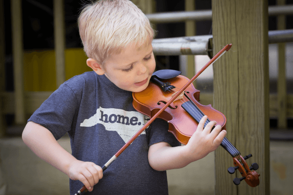 Merlefest North Carolina kid playing violin