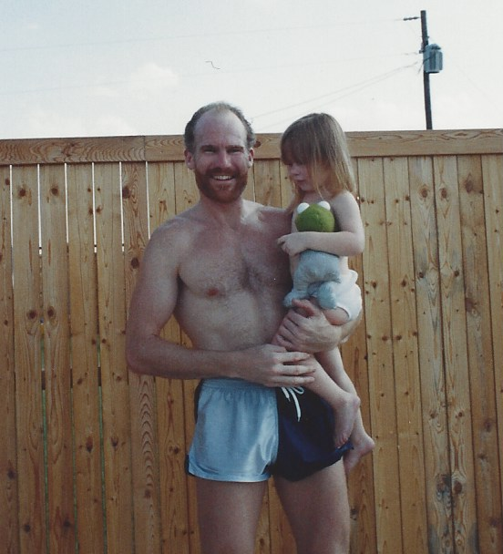 Veronica Graham with her father