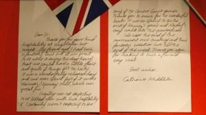 kate middleton handwriting