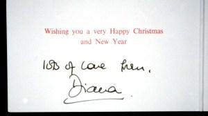 Princess Diana Signature