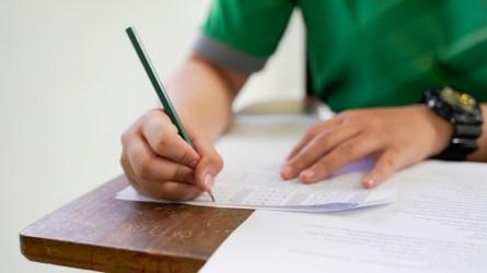 Student taking SAT