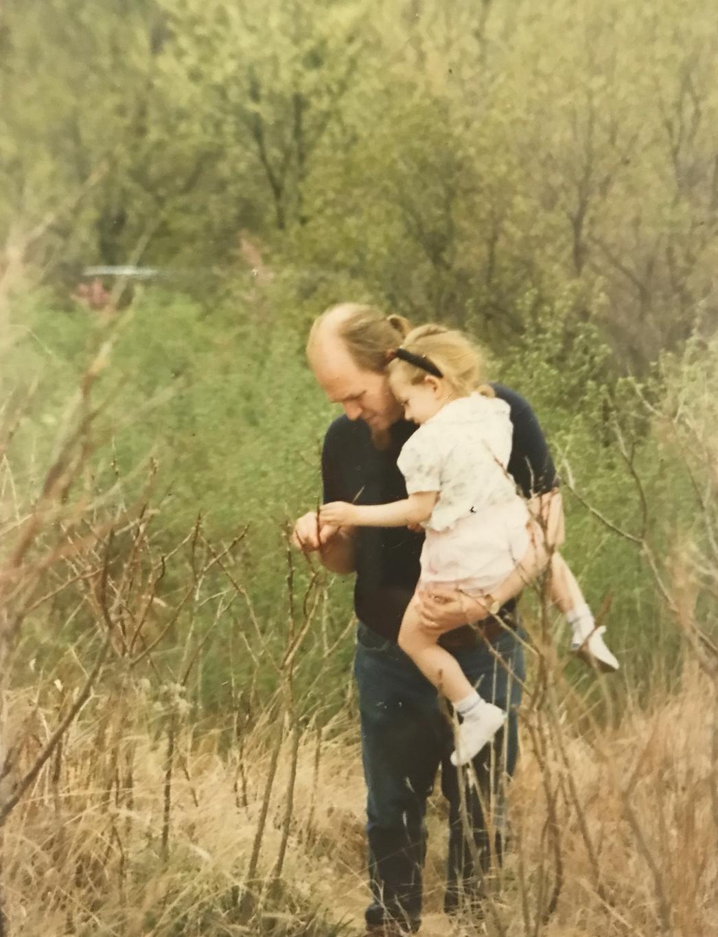 Amelia Edelman and dad